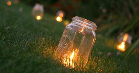 Luminaires : Bougie dans un bocal | Terrasse tendance 2012