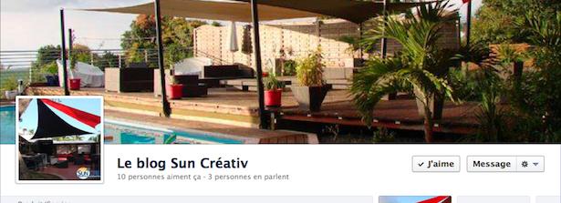 Le blog Sun Créativ est sur Facebook