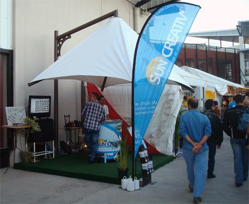 Le stand Sun Créativ au Salon de la Maison Réunion