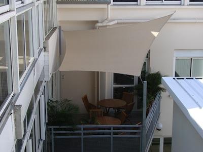Voile Ombrage sur un balcon